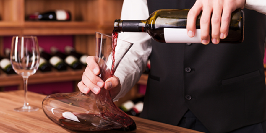 Wine Being Poured for a Tasting
